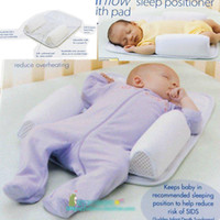 baby pillow - Hot sale baby safe comfortable sleeping pad pillow crib bed pillow shape anti stand up pillow with retail package