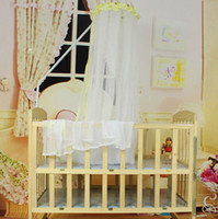 Cheap Essential 2015 New Summer Baby Bed Mosquito Mesh Dome Curtain Net for Toddler Crib Cot Canopy 170*420cm