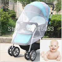 Wholesale Classic Design Infants Baby Stroller Mosquito Net Buggy Pram Protector Pushchair Fly Midge Insect Bug Cover Sizes