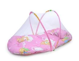 Portable du nouveau-né Lit bébé berceau Lit pliant avec moustiquaire Infant Coussin matelas Oreiller literie mobiles berceau filet ensemble