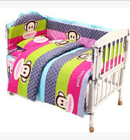 baby crib packages - HOT Baby bedding kit piece set cotton crib bedding package boys and girls cartoon pattern cotton bed around gift sheet