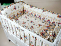 Wholesale Cute Baby Cot Set Cotton Crib Set For Kids Baby Bedding Set Unpick Soft Comfortable Cute Cartoon Printed Crib Bed Set
