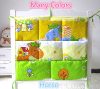 Wholesale Promotion Kitty Mickey Baby Bed Hanging Storage Bag cm Newborn Crib Diaper And Toys Pocket