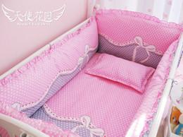 Wholesale New Cartoon brand Bow kids bedding bumper cotton baby crib set baby crib bedclothes kids bedding cribs cot nursery bedding