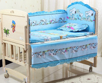 Unisex Three-piece Cribs Bedding Promotion! 5pcs curtain crib bedding set baby cot sets baby bed bumper free shipping ,(bumper+matress+pillow)