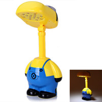 Wholesale Wonderland Despicable Me Folding Head LED Desk Lamp LED Smiling Cartoon Minions Portable Energy saving Modern Student Table Lamp