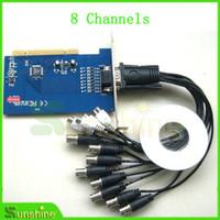 Envío gratis 8 canales CCTV DVR Pci Real tiempo tarjeta de captura de cámara fábrica precio envío gratis