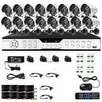 al por mayor 16 ch circuito cerrado de televisión del canal-Sistema de cámaras Zmodo 16 CH canales DVR CCTV 600TVL seguridad de la vigilancia al aire libre