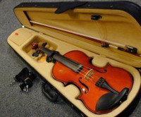 Wholesale NEW rosewood NATURAL Violin Fiddle SETUP WITH BOX