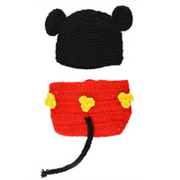Wholesale Hot New Lovely Cute Tutu Handmade Crochet Photo Newborn Baby Outfit Prop Newborn M Costume Knitwear Cap