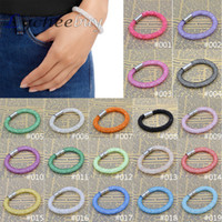 Wholesale Colorful Charming Bracelet Magnetic Crystal Cuff Bracelet Wrap Mesh Magnetic Clasp Double Gift Pulseiras