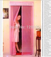 Wholesale High Quality Colorful Mosquito Door Screen Magnetic Stripe Mesh Prevent Fly Door Curtain Net to door Hot Sales