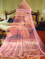 Wholesale New Arrival Elegant Netting Bed Canopy Mosquito Net Pink Freeshipping Dropshipping