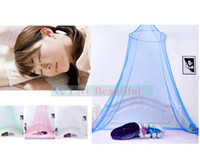 Cheap Free shipp 4 Colors New Round Curtain Dome Bed Canopy Netting Princess Mosquito Net Palace Mosquito Net For Wedding New Couples