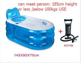 Wholesale Adult Spa PVC Folding Portable Bathtub Inflatable Bath Tub With Zipper Cover Drink Holder tubs