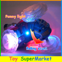 toys electric motor car - Free Ship RC Monster Truck Remote Control Toy Stunt Car Electric Dance Dump Car Drift Model Rolling Rotating Wheel Vehicle Motor