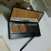 makeup for women of color - makeup Professional color EYEBROW Powder Shadow Palette With Double Ended Brush Designed for a new generation of women