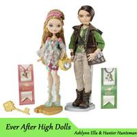 best gifts for hunters - Genuine Original Ever After High Ashlynn Ella amp Hunter Huntsman Doll Pack plastic toys Best gift for girl BBD48