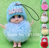 baby doll charms - LOVE cute baby dolls for girls as wedding promotion gift christmas doll gift cell Phone bag charms