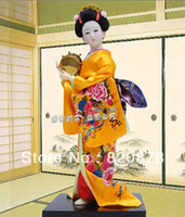oriental statues - Oriental Broider Doll Japanese Old style figurine Japanese doll statue J9 TY05
