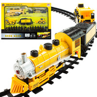 best motor bicycle - Electric train track carrying back construction truck set electric bicycle toy kids toy best gift