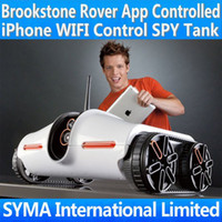 battery ipad app - Brookstone Rover App Controlled WIFI Wireless S P Y Tank App Controlled iPhone iPod iPad iTouch Control Realtime Transport Video