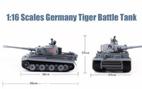 big scale tanks - RC Tank Germany Tiger Tank Scales CH Remote Control simulation Tank launch cannonball tank Model Toys