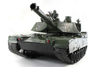big scale tanks - 80cm US M1A2 Colorful Army Tank Scales CH Remote Control simulation Tank with launch cannonball tank Toys