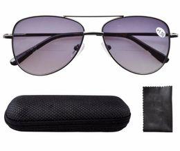 Wholesale R1502 Eyekepper Spring Hinges Polycarbonate Lens Aviator BiFocal Sunglasses Reading Glasses