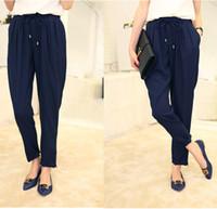 loose pants for women - Autumn New Fashion Women s Elastic High Waist Chiffon Casual Loose Harem Pants Long Trousers For Female