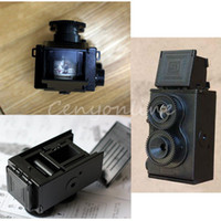 Wholesale Top Quality DIY Black Classic Play Hobby Twin Lens Reflex TLR mm Holga for Lomo Camera Kit Outdoor Travel Photograph
