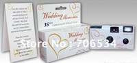 Wholesale NEW Arrival Disposable Wedding Camera flash built in cm g White