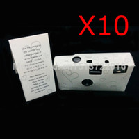 Wholesale x HEARTS DISPOSABLE WEDDING Bridal CAMERA WITH FLASH AND TABLE CARD