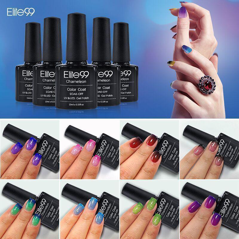 Elite99 Temperature Change UV Gel Nail Polish Thermal Change Color ...
