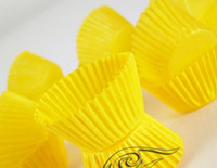 Wholesale Yellow Small MINI tart cake chocolate paper cases cupcake total Diameter is cm box
