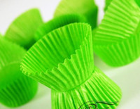 Wholesale Green tart cake chocolate paper cases cupcake total Diameter is cm box