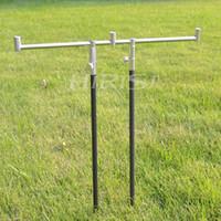 Cheap New Carp tackle 1pcs Fishing buzz bar for 3 fishing rods + 2 pcs bank sticks(50-90cm) fishing rod holder 40cm
