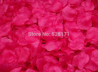 Wholesale hot pink Silk Rose Petals Supply Flowers petals Favor For Wedding Party Decoration