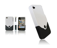 Cheap V Shape cell phone case pouches for iphone 4G iphones4G fashion removable upper and lower cut-off