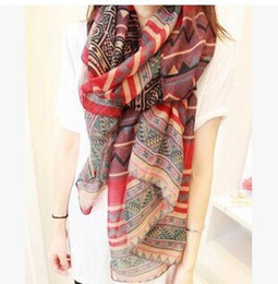 Wholesale Big size Bohemia national trend scarf female rhombus geometry fashion scarf women