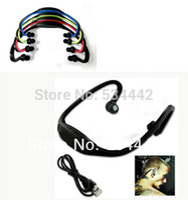 digital mp4 digital player - 5PCS Sport Headphone MP3 Digital Music Player Wireless Handsfree Headset Support Micro SD TF Card FM radio Ear style Wholesales