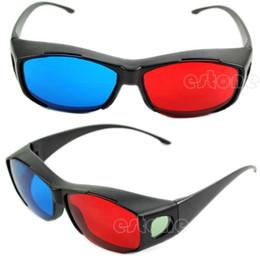 Wholesale Rojo Azul W110 Nueva caliente gafas D anaglifo Capítulo Para dimensional película DVD del juego