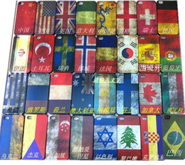 Wholesale Retro National Flag Antique Scrub National Flag Hard Case Cover For iPhone g S