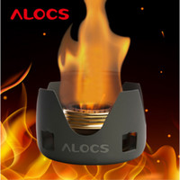 alcohol free spirits - ALOCS Portable Camping Alcohol Stove Spirit Burner Black Golden