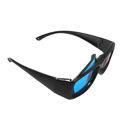 Wholesale 2pcs New arriva D glasses frame colors lens Anaglyphic Blue Red D Glasses for watching computer TV D movie program Games