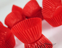Wholesale Red Small MINI tart cake chocolate paper cases cupcake total Diameter is cm box