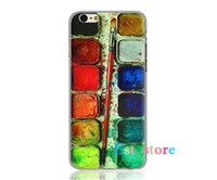 artistic palette - Watercolor Palette Artistic emboss UV print hard phone case for iphone s s P plus inch back cover