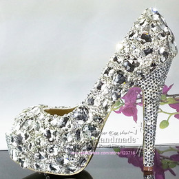 Silver Jeweled Heels Suppliers | Silver Jeweled Heels Best ...
