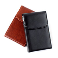 Wholesale Fashion Soft Leather Business Name ID Credit Card Wallet Case Bag Holder