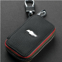 aveo key - Top Genuine Leather Automotive Remote Control Bag For Chevrolet Cruze Aveo CAMARO EPICA CAPTIVA Spark Malibu key Bag Key Case